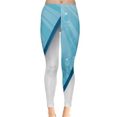 Water Bubble Waves Blue Wave Classic Winter Leggings