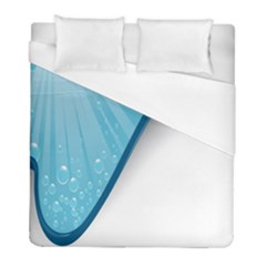 Water Bubble Waves Blue Wave Duvet Cover (full/ Double Size) by Alisyart