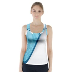 Water Bubble Waves Blue Wave Racer Back Sports Top by Alisyart