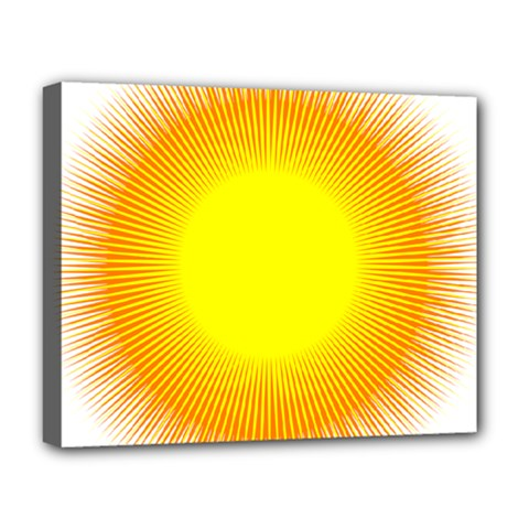 Sunlight Sun Orange Yellow Light Deluxe Canvas 20  X 16   by Alisyart