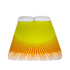 Sunlight Sun Orange Yellow Light Fitted Sheet (full/ Double Size) by Alisyart