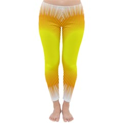 Sunlight Sun Orange Yellow Light Classic Winter Leggings