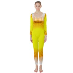 Sunlight Sun Orange Yellow Light Long Sleeve Catsuit