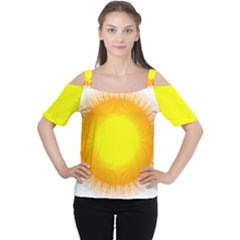 Sunlight Sun Orange Yellow Light Women s Cutout Shoulder Tee