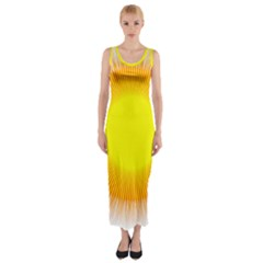 Sunlight Sun Orange Yellow Light Fitted Maxi Dress by Alisyart