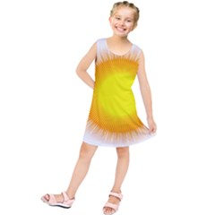 Sunlight Sun Orange Yellow Light Kids  Tunic Dress by Alisyart