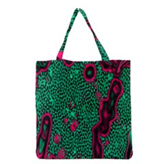 Reaction Diffusion Green Purple Grocery Tote Bag by Alisyart