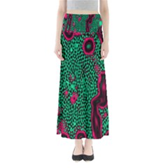 Reaction Diffusion Green Purple Maxi Skirts by Alisyart