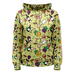 Wine Cheede Fruit Purple Yellow Women s Pullover Hoodie