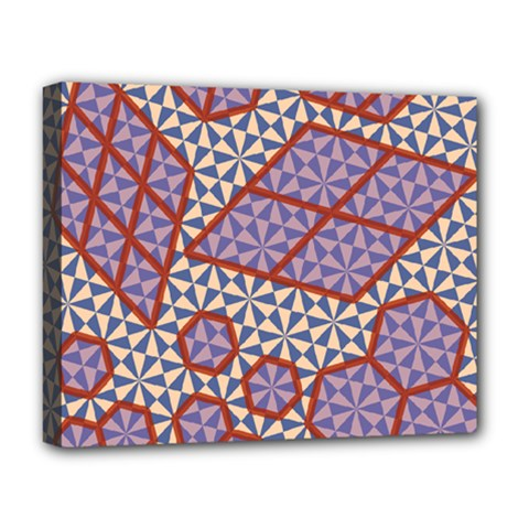 Triangle Plaid Circle Purple Grey Red Deluxe Canvas 20  X 16   by Alisyart