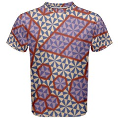 Triangle Plaid Circle Purple Grey Red Men s Cotton Tee