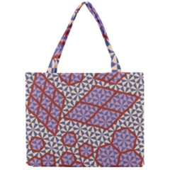 Triangle Plaid Circle Purple Grey Red Mini Tote Bag by Alisyart