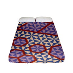 Triangle Plaid Circle Purple Grey Red Fitted Sheet (full/ Double Size) by Alisyart