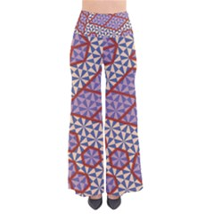 Triangle Plaid Circle Purple Grey Red Pants by Alisyart
