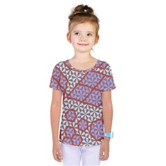 Triangle Plaid Circle Purple Grey Red Kids  One Piece Tee
