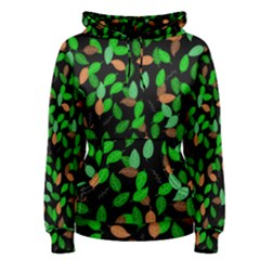Leaves True Leaves Autumn Green Women s Pullover Hoodie by Simbadda