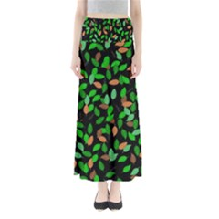 Leaves True Leaves Autumn Green Maxi Skirts