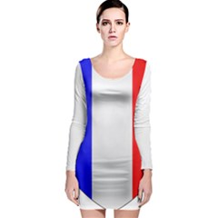Shield On The French Senate Entrance Long Sleeve Bodycon Dress by abbeyz71