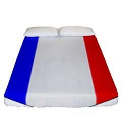 Shield On The French Senate Entrance Fitted Sheet (queen Size)