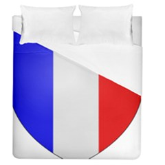 Shield On The French Senate Entrance Duvet Cover (queen Size) by abbeyz71