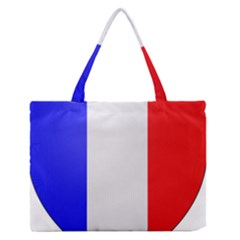 Shield On The French Senate Entrance Medium Zipper Tote Bag by abbeyz71