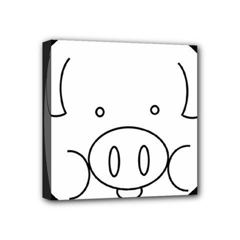Pig Logo Mini Canvas 4  X 4  by Simbadda