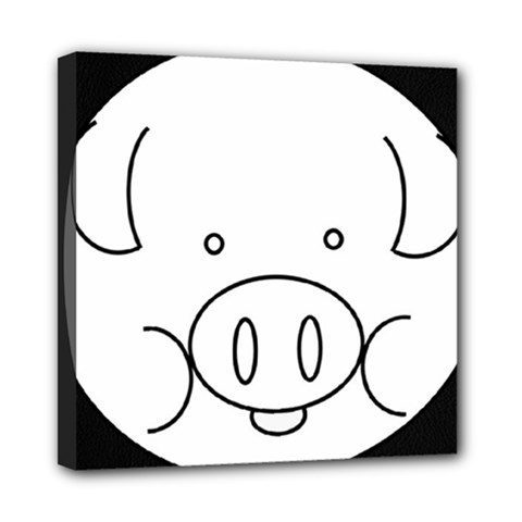 Pig Logo Mini Canvas 8  X 8  by Simbadda