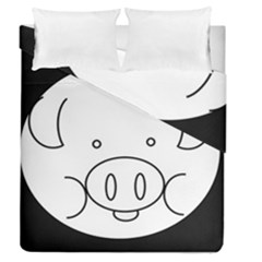 Pig Logo Duvet Cover Double Side (queen Size)