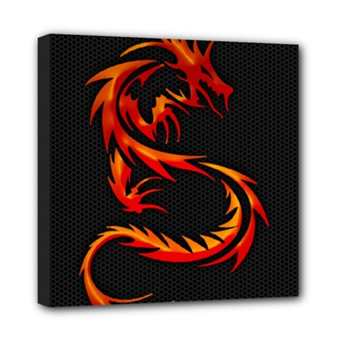 Dragon Mini Canvas 8  X 8  by Simbadda