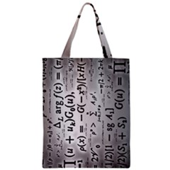 Science Formulas Zipper Classic Tote Bag by Simbadda