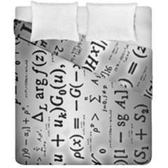 Science Formulas Duvet Cover Double Side (california King Size) by Simbadda