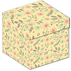 Seamless Spring Flowers Patterns Storage Stool 12   by TastefulDesigns