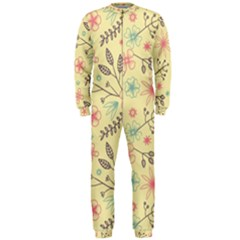Seamless Spring Flowers Patterns Onepiece Jumpsuit (men)  by TastefulDesigns