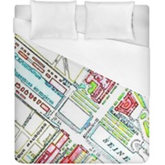 Paris Map Duvet Cover (california King Size)