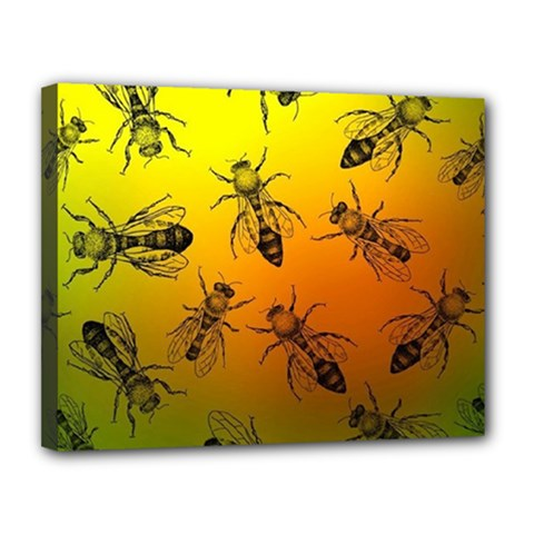Insect Pattern Canvas 14  X 11  by Simbadda