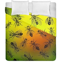Insect Pattern Duvet Cover Double Side (california King Size) by Simbadda