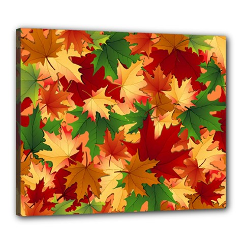 Autumn Leaves Canvas 24  X 20  by Simbadda