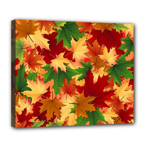 Autumn Leaves Deluxe Canvas 24  X 20   by Simbadda