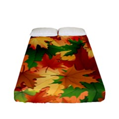 Autumn Leaves Fitted Sheet (full/ Double Size) by Simbadda