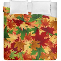 Autumn Leaves Duvet Cover Double Side (king Size) by Simbadda