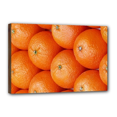 Orange Fruit Canvas 18  X 12  by Simbadda