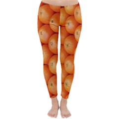 Orange Fruit Classic Winter Leggings
