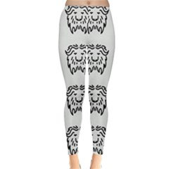 Animal Bison Grey Wild Classic Winter Leggings