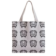 Animal Bison Grey Wild Zipper Grocery Tote Bag by Alisyart