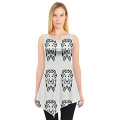 Animal Bison Grey Wild Sleeveless Tunic