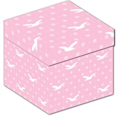 Wallpaper Same Palette Pink Star Bird Animals Storage Stool 12   by Alisyart