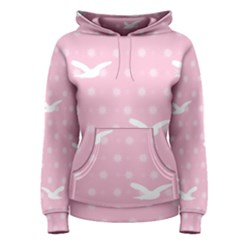 Wallpaper Same Palette Pink Star Bird Animals Women s Pullover Hoodie