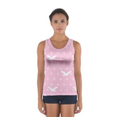 Wallpaper Same Palette Pink Star Bird Animals Women s Sport Tank Top  by Alisyart