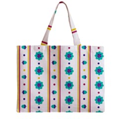 Beans Flower Floral Blue Mini Tote Bag by Alisyart