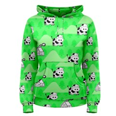 Animals Cow Home Sweet Tree Green Women s Pullover Hoodie